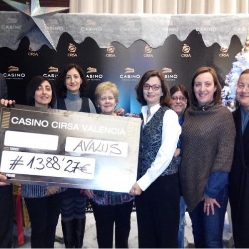 Casino Valencia colabora con AVALUS