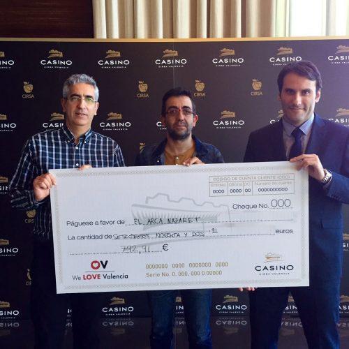 Casino CIRSA Valencia colabora con El Arca