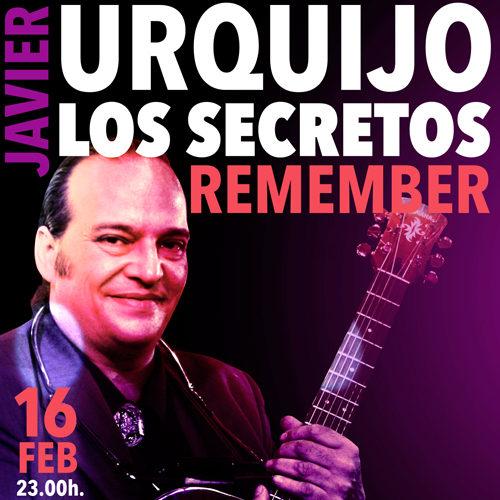 Javier URQUIJO en concierto remember LOS SECRETOS