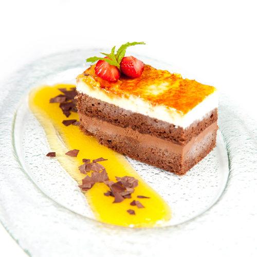 Tarta de 2 chocolates con naranja
