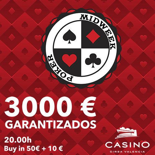 TORNEO MIDWEEK. 3.000€ garantizados