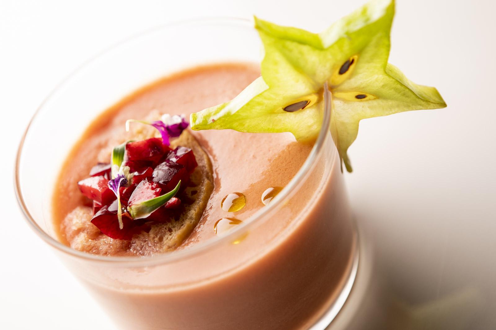 gazpacho de cerezas con vinagre