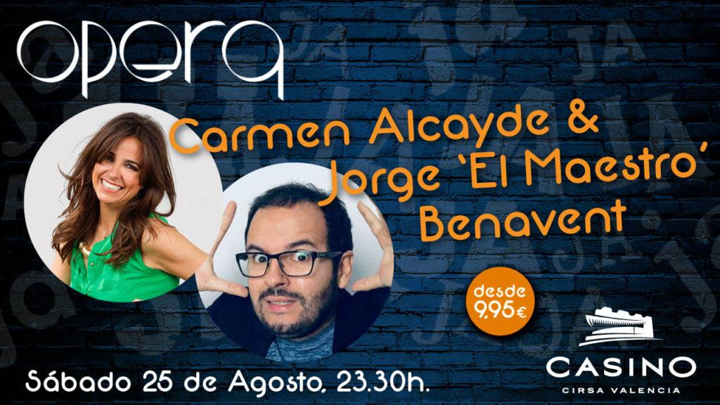 Carmen Alcayde y Jorge Benavent