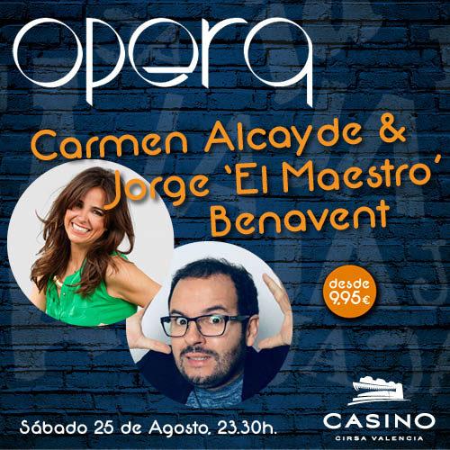 """Carmen Alcayde se estrenó junto a Jorge """"El Maestro"""" Benavent"""