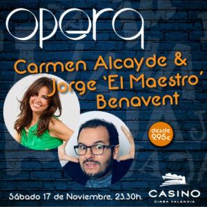 Carmen Alcayde y Jorge el maestro benavent