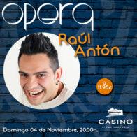 Raúl Antón 4 noviembre 20h +cena