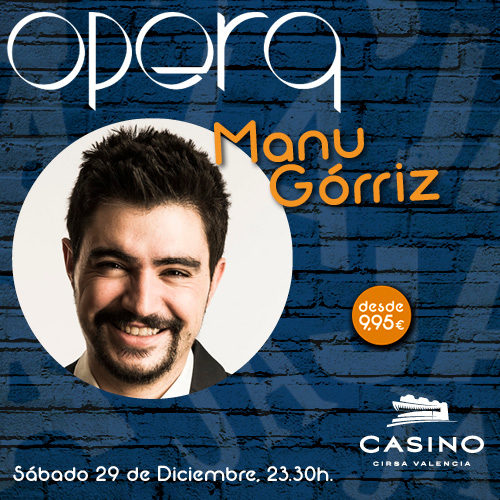 Manu Górriz puso su humor cínico en el Casino CIRSA