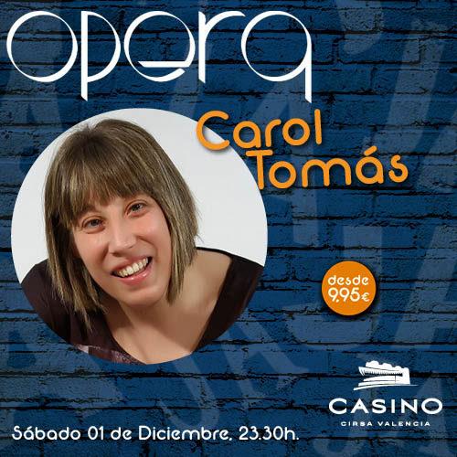 Carol Tomás presentó su nuevo espectáculo en Ópera Valencia