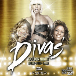 Divas Golden Night, Cena con espectáculo de estreno en Casino CIRSA