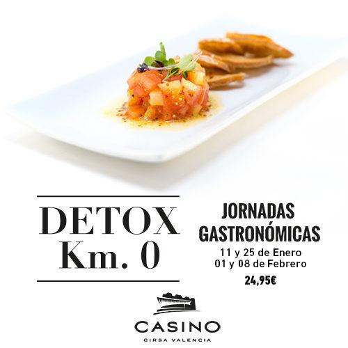 Menú DETOX, jornadas gastronómicas saludables