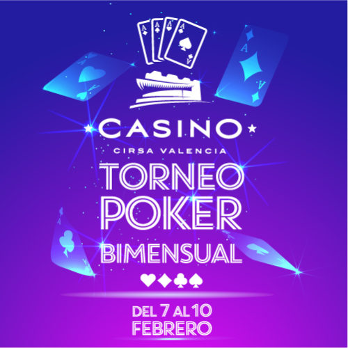 Nuevo torneo BIMENSUAL en Casino CIRSA Valencia