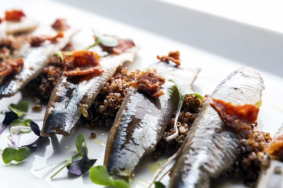 sardina ahumada con quinoa