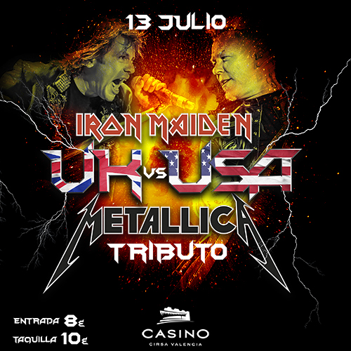 Metallica y Iron Maiden TRIBUTO Rock