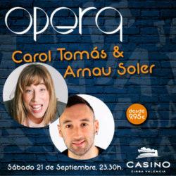 Arnau Soler y Carol Tomás en Ópera Valencia