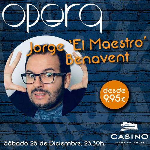 """El maestro"" Jorge Benavent en Ópera Valencia"