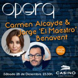 """Carmen Alcayde y """"El maestro"""" Jorge Benavent"""