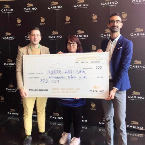 El Casino Cirsa Valencia colabora con el comité anti sida de Valencia