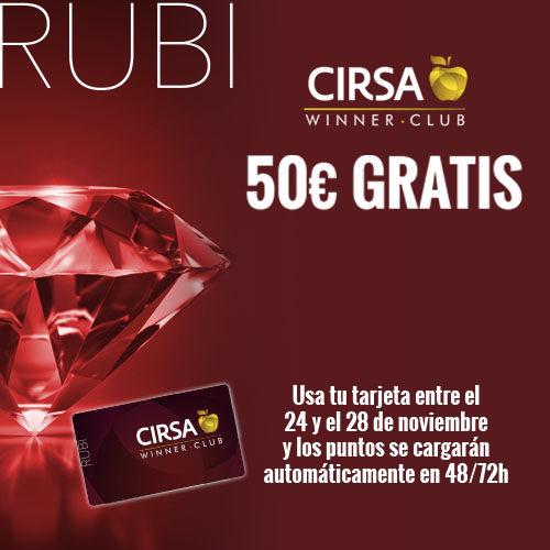 ¡Premiamos con 50€ a los rubís más fieles!