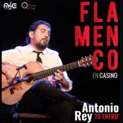 Antonio Rey, guitarra flamenca, en Casino CIRSA