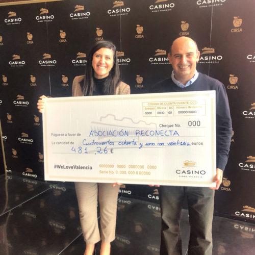 El Casino Cirsa Valencia colabora con la asociación Reconecta de Valencia